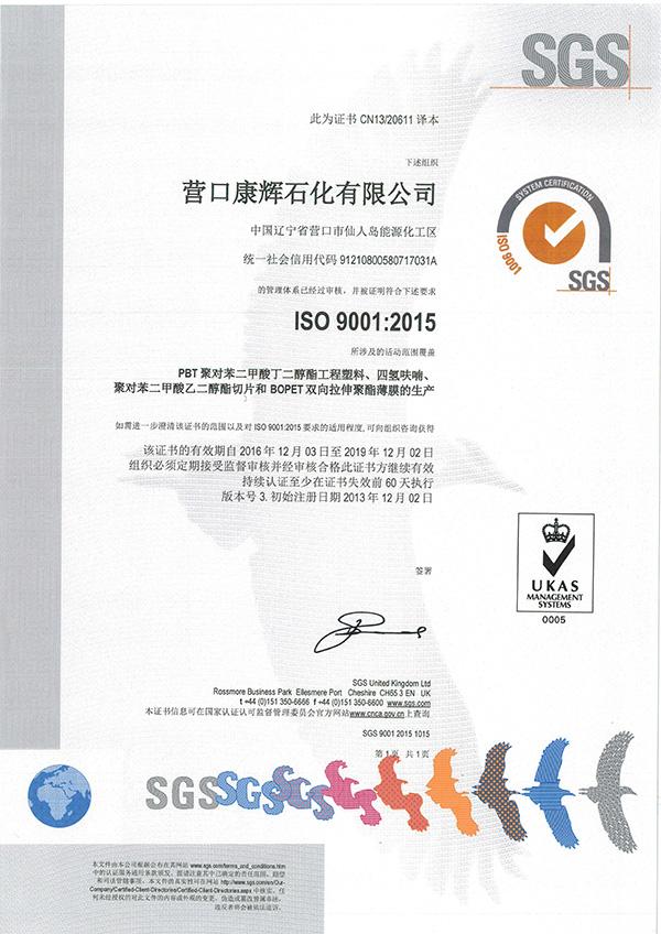 ISO9001:2015質量管理體系(中文版)